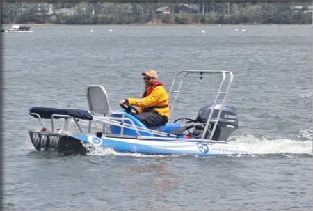 Jon Hunt operates the Zego personal surveying vessel.